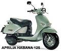 Aprilia HABANA 125 4ST. onderdelen