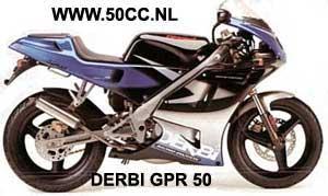 Derbi GPR50  (EBE50 ENGINE) onderdelen