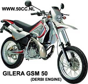Gilera GSM (DERBI EBE50 ENGINE) onderdelen