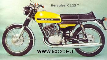 Hercules K 125 T  1973-75 onderdelen