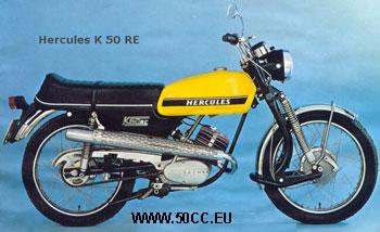 Hercules K 50 RE 1973-74 onderdelen