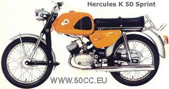 Hercules K 50 SPRINT 1969-70 onderdelen