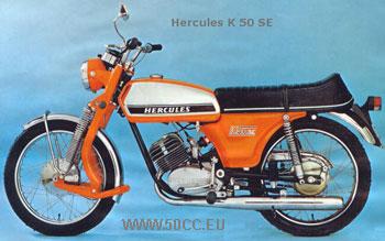 Hercules K 50 SE 1973-74 onderdelen
