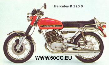 Hercules K 125 S 1975-76 onderdelen