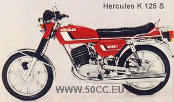 Hercules K 125 S 1977-80 onderdelen