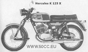 Hercules K 125 X onderdelen
