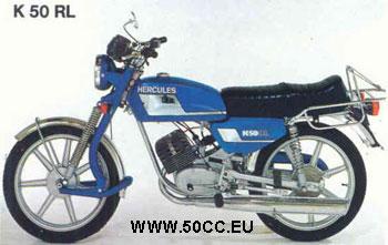 Hercules K 50 RL 1977-80 onderdelen