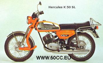 Hercules K 50 SL 1974-76 onderdelen