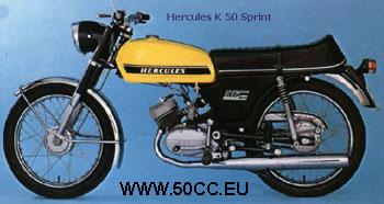 Hercules K 50 SPRINT 1973-74 onderdelen