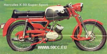 Hercules K 50 SUPER SPORT 1968-70 onderdelen