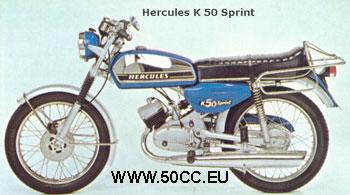 Hercules K 50 SPRINT 1975-77 onderdelen