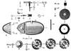 Zundapp - 517-36la  lc - Deksel rechts + koppeling