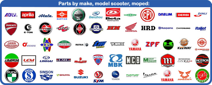 50cc eu, parts for scooters, mopeds and 2-stroke bikes